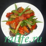 Теплый овощной салат «барбекю»