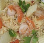 Рис с креветками в ананасе для тех, кто худеет.