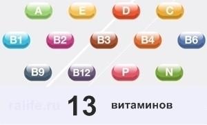 13 витаминов