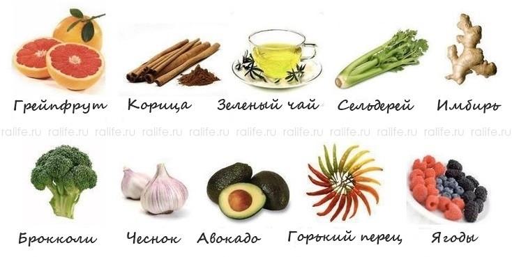 продукты для ускорения обмена веществ