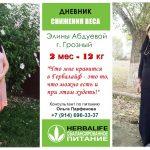 Как похудеть за 2 месяца на 12 кг, запись из дневника похудения Элины, г. Грозный