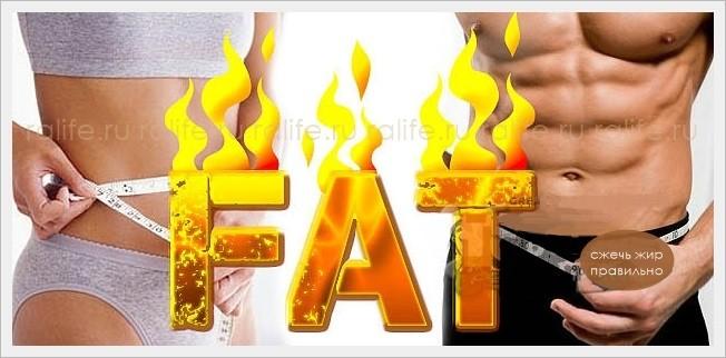 как сжечь жир правильно