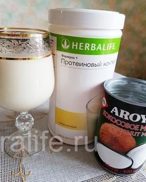 готовим коктейль на кокосовом молоке