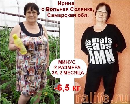 минус 6,5 кг за 2 месяца