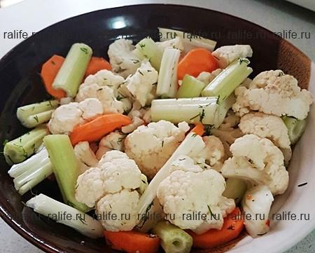салат из цветной капусты для поста