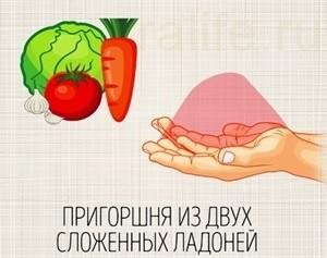 правильная порция овощей