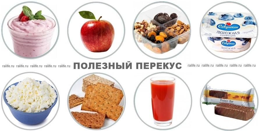 полезные перекусы в меню для похудения