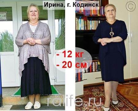 отзывы похудевших с Гербалайф в Кодинске
