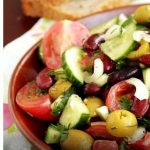 Рецепт салата с красной фасолью