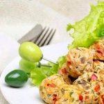 Куриные тефтели с овощами
