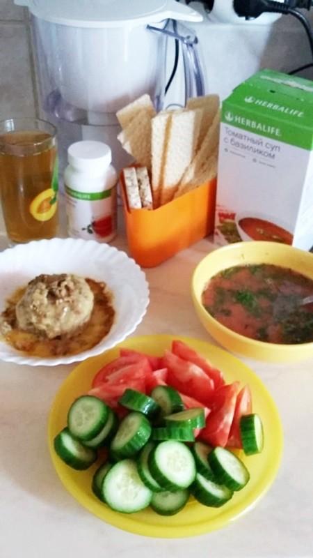 обед на диете похудения