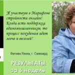 Отзывы и результаты похудения за 6 недель Фатимы Я., г. Салехард