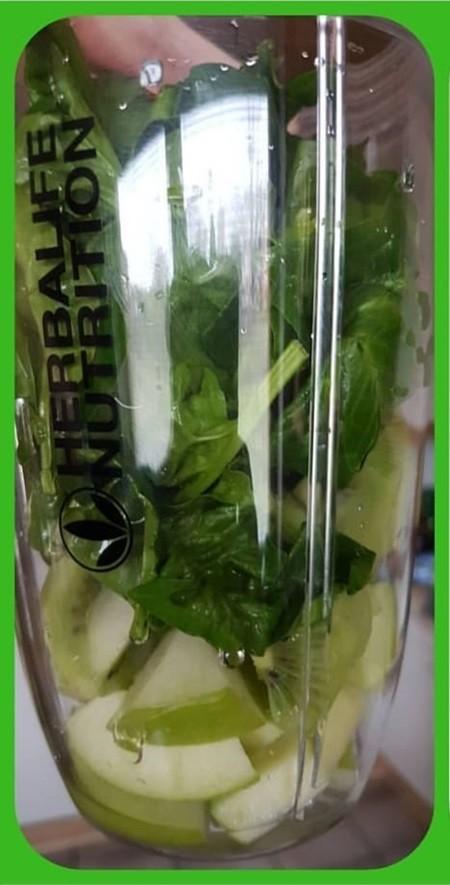 зеленый коктейль - состав