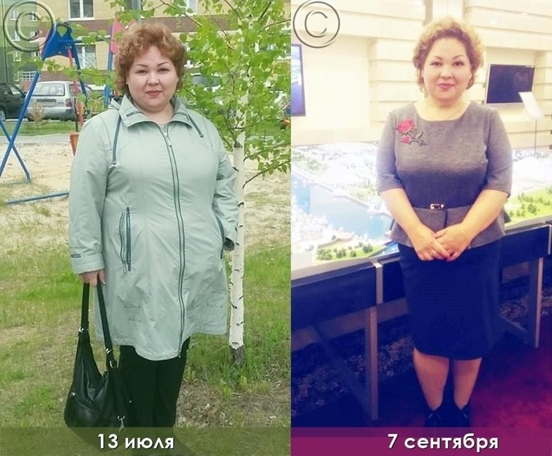 за 3 месяца похудела на 11 кг