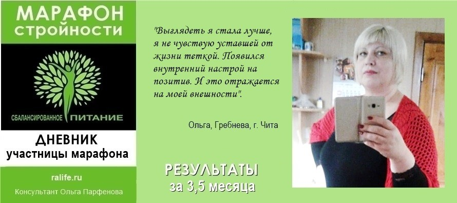марафон стройности в Чите и результаты похудения