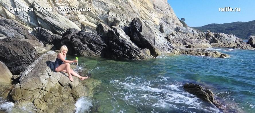 Пляжи Приморья, бухта Отрадная, прибой