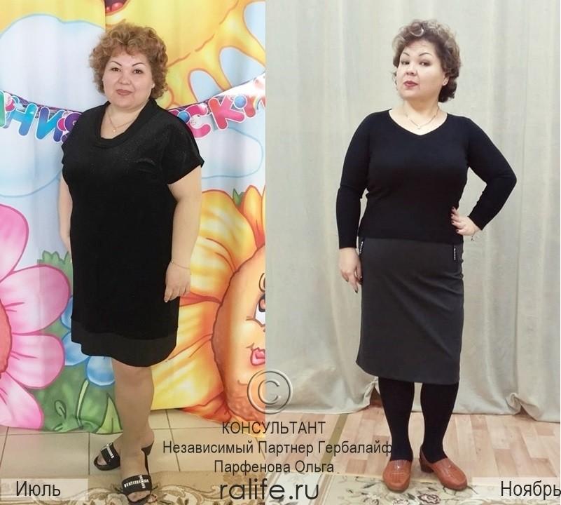 результаты похудения с фото до и после участницы марафона
