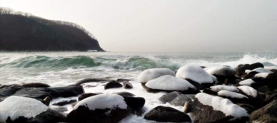 море в находке зимой