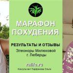 Результаты и отзывы о Марафоне похудения Элеоноры М., г. Люберцы
