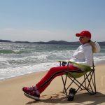 Активный отдых на любимом пляже в Ливадии. Апрель 2019