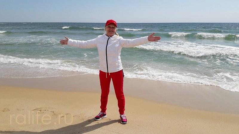 совместные тренировки на пляже