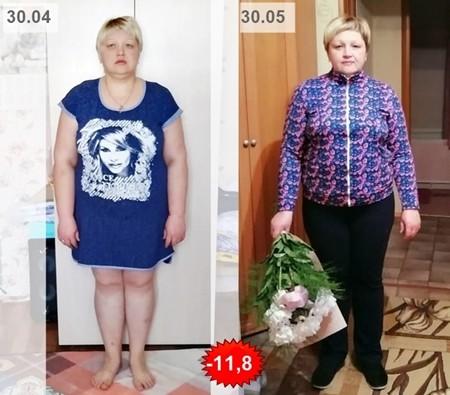 марафон похудения, результат за месяц