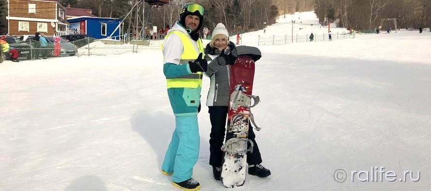 Учимся кататься на сноуборде!