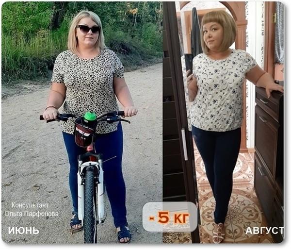 результат похудения на 5 кг