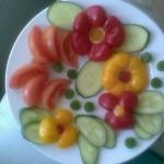 Оформление овощного ассорти