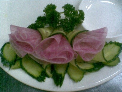 украшения из овощей