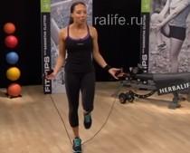 Упражнения на скакалке — видео