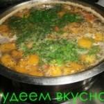 Диетический куриный суп с тыквой