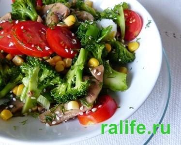 Простой салат на ужин